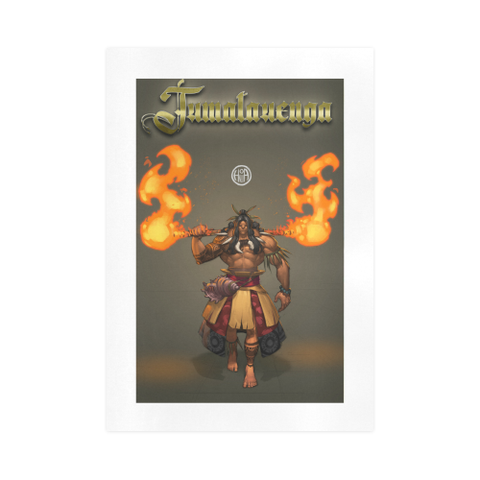 Image of Tumatauenga God Of War Art Print K4