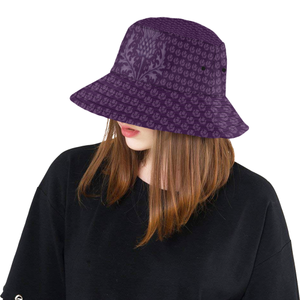 Scotland Bucket Hat - Scottish Thistle Purple Edition A7