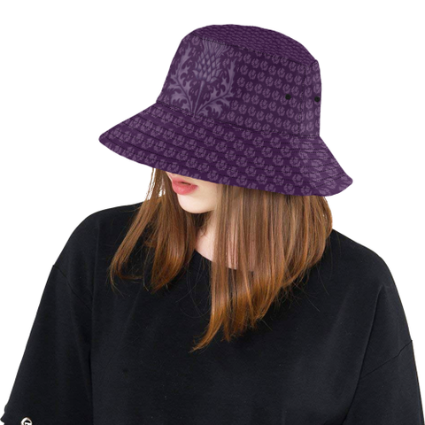 Image of Scotland Bucket Hat - Scottish Thistle Purple Edition