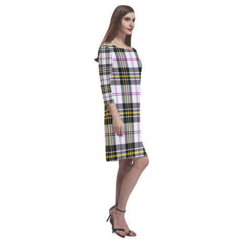 Image of Macpherson Dress Modern Tartan Dress - Rhea Loose Round Neck Dress - BN
