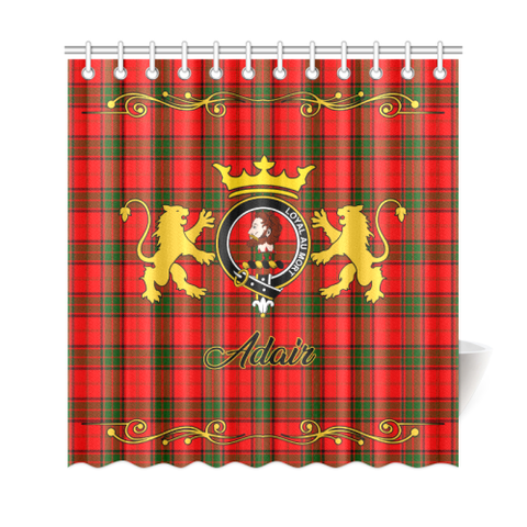 Tartan Shower Curtain - Adair Clan | Scottish Home Set | Over 300 Clans