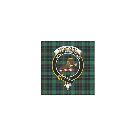 MacAulay Hunting Ancient Tartan Towel Clan Badge | 1sttheworld.com