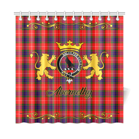 Tartan Shower Curtain - Abernethy Clan | Scottish Home Set | Over 300 Clans
