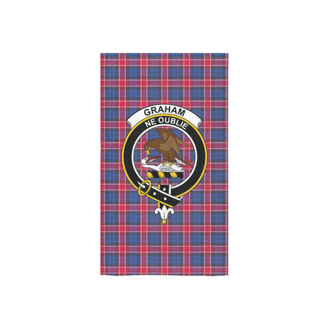 Image of Graham of Menteith Red Tartan Towel Clan Badge - BN