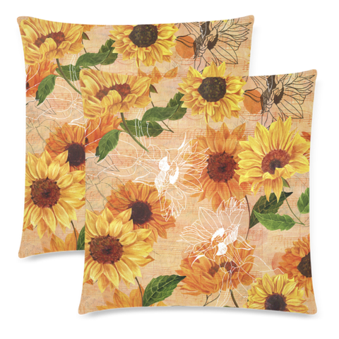Sunflower Pillow Covers