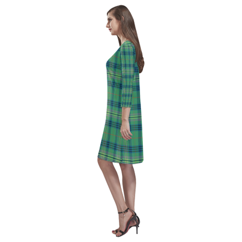 Kennedy Ancient Tartan Dress - Rhea Loose Round Neck Dress - BN