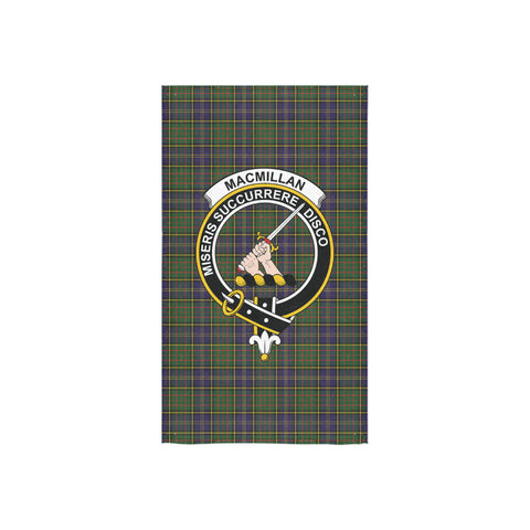 MacMillan Hunting Modern Tartan Towel Clan Badge NN5