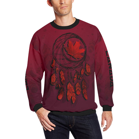 Image of Canada Maple Leaf Dreamcatcher Sweatshirt A02 |Men and Women| Love The World