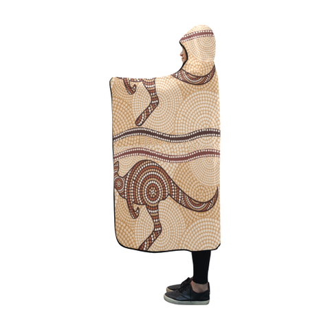 Image of Australia Aboriginal 08 Hooded Blanket H7 | Love The World