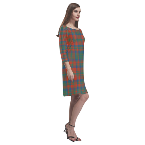 Matheson Ancient Tartan Dress - Rhea Loose Round Neck Dress - BN