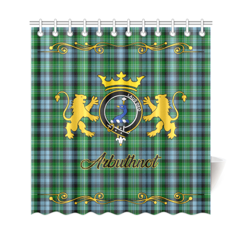 Tartan Shower Curtain - Arbuthnot Clan | Scottish Home Set | Over 300 Clans