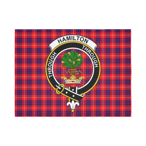 Image of Hamilton Modern Tartan Tapestry Clan Badge K7