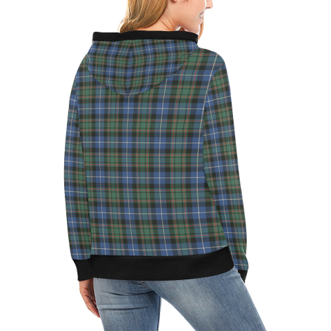 Macrae Hunting Ancient Tartan Clan Badge High Neck Hoodie - Bn |Clothing| 1sttheworld
