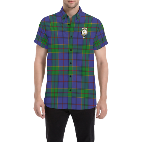Image of Tartan Short Sleeve Shirt - Strachan Clan | Exclusive Over 300 Clans and 500 Tartans