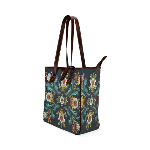 Image of Rogaland Rosemaling Classic Tote Bag | HOT Sale