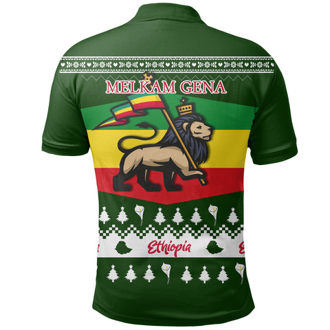 Image of Ethiopia Christmas Polo Shirt K5