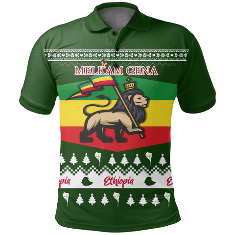 Ethiopia Christmas Polo Shirt K5