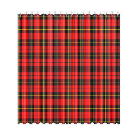 Image of Wallace Hunting - Red Tartan Window Curtain - Bn
