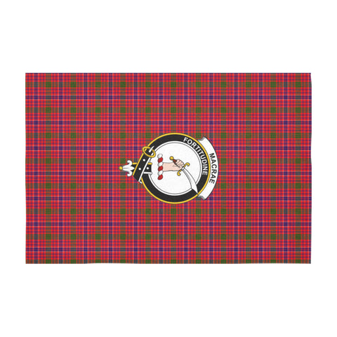 Image of Macrae Crest Tartan Tablecloth A9