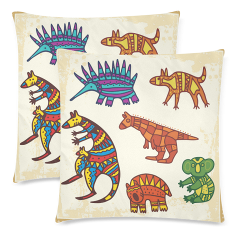 Image of Aboriginal Animals Pillow Covers NN6