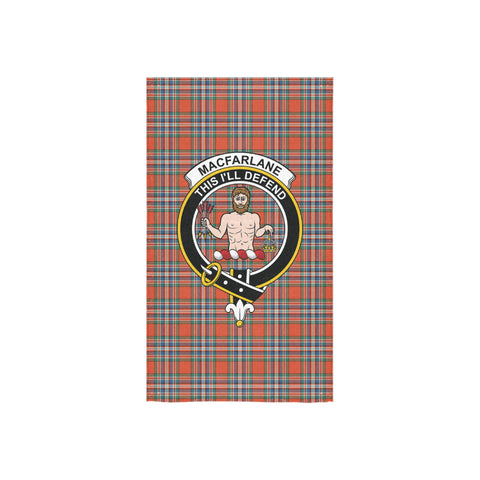 MacFarlane Ancient Tartan Towel Clan Badge NN5