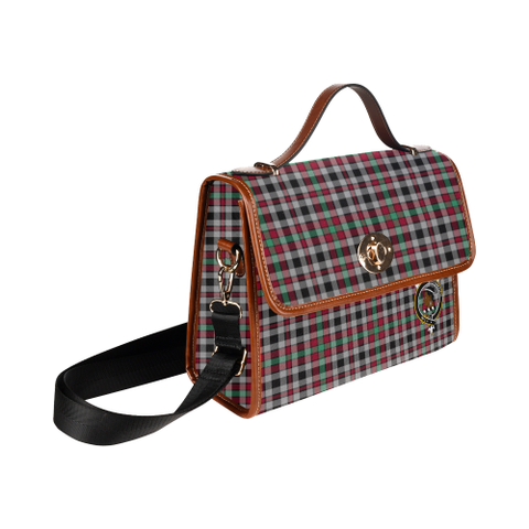 Image of Tartan Canvas Bag - Borthwick Clan | Waterproof Bag | Scottish Bag