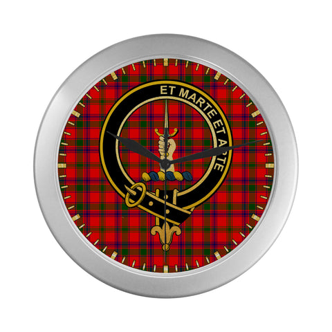 Image of BAIN CLAN TARTAN WALL CLOCK A9