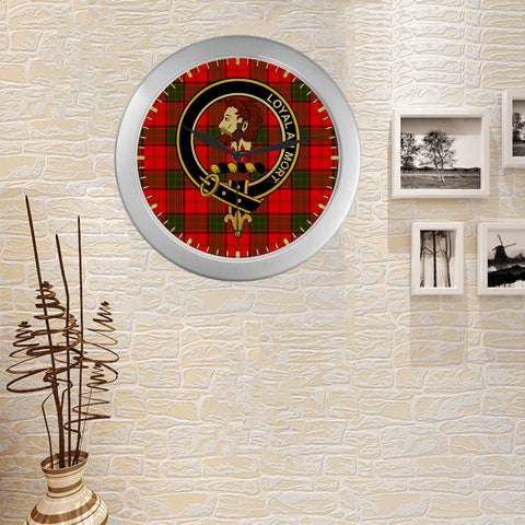 Image of ADAIR CLAN TARTAN WALL CLOCK A9