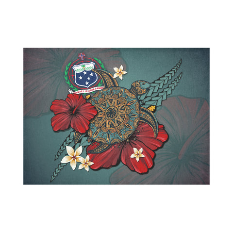 Samoa Placemat - Blue Turtle Tribal A02