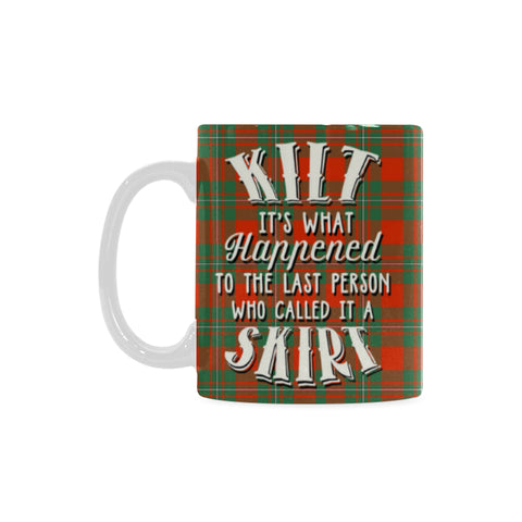 Macgregor Ancient Tartan Quote White Mug Hj4