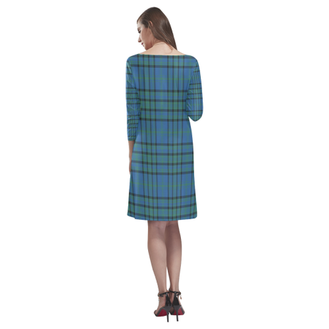 Image of Matheson Hunting Ancient Tartan Dress - Rhea Loose Round Neck Dress - BN
