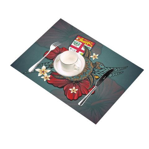 Fiji Placemat - Blue Turtle Tribal A02