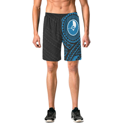 Image of Yap Polynesian Beach Shorts Blue | Micronesia