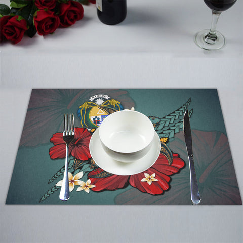 Image of Nauru Placemat - Blue Turtle Tribal A02