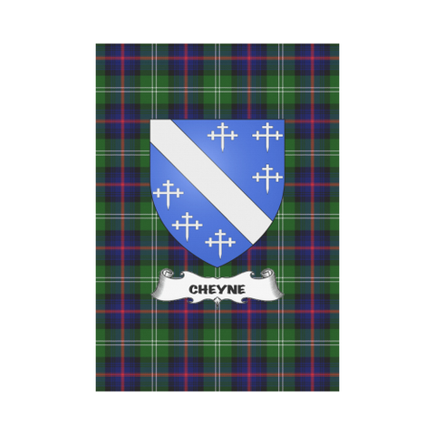 Cheyne Tartan Flag Clan Badge K3 |Home Decor| 1sttheworld