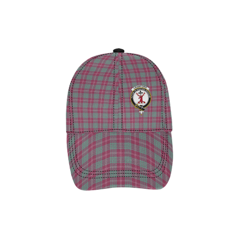 Crawford Ancient Clan Badge Tartan Dad Cap - BN03
