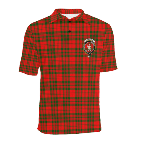 Livingstone Modern Tartan Clan Badge Polo Shirt HJ4