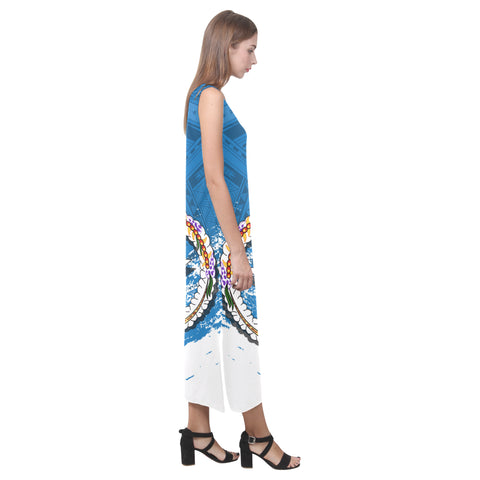 Image of Northern Mariana Islands Phaedra Sleeveless Open Fork Long Dress A7