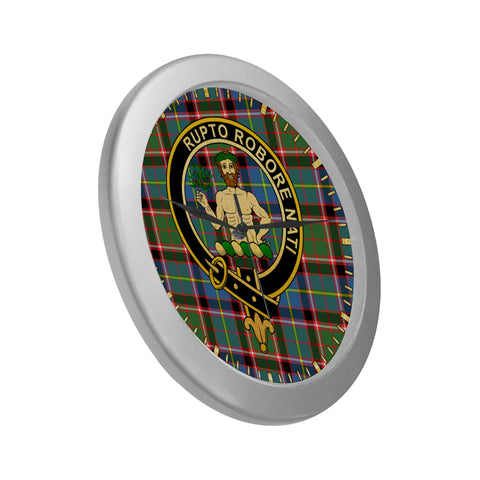 Image of AIKENHEAD CLAN TARTAN WALL CLOCK A9