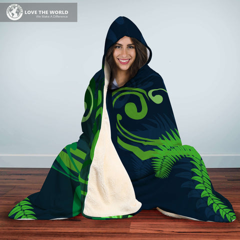 Special Edition of New Zealand Fern - Fern Hooded Blanket