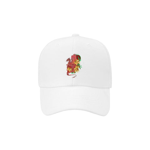 Welsh Dragon With Daffodils Dad Cap TH7