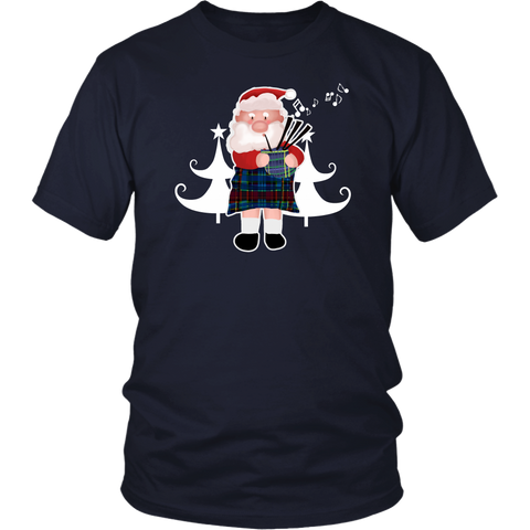 Image of Scottish Bagpipe Santa - Scotland T-shirt A0