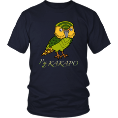 New Zealand T Shirt - Kakapo Maori Bird K3
