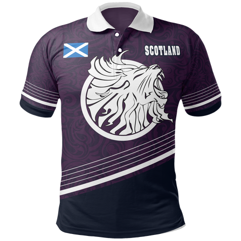 Scotland Polo Shirt - Scottish Lion -BN18