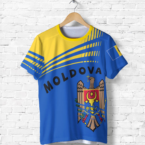 Image of Moldova T Shirt - Winner Ultra Edition II - Blue and Yellow - Front - for Men and Women