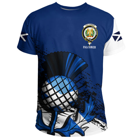 Image of Falconer Crest Scottish Scotland T-Shirt A7