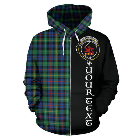 (Custom your text) Farquharson Ancient Tartan Hoodie Half Of Me | 1sttheworld.com