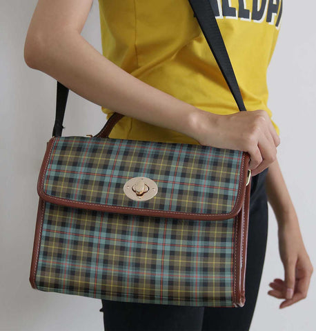 Tartan Bag - Farquharson Weathered Canvas Handbag A9