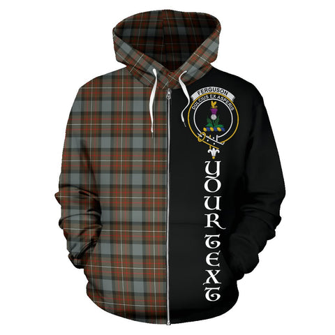 (Custom your text) Fergusson Weathered Tartan Hoodie Half Of Me | 1sttheworld.com