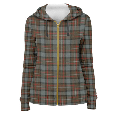 Tartan Zip Hoodie -Fergusson Weathered | Men & Women | Clothing